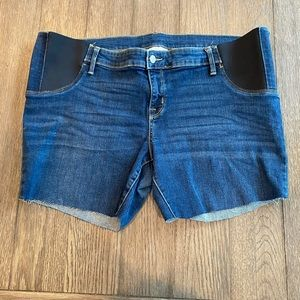 Isabel Maternity Jean Cutoff Denim Shorts size 18